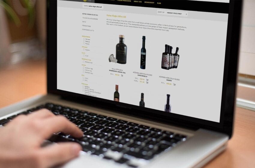La vendita di olio EVO è anche online