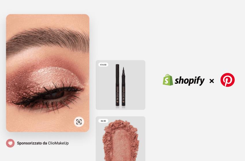 Pinterest e Shopify espandono la partnership  per promuovere il social commerce