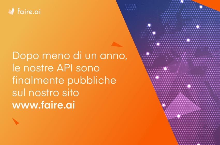 Faire.ai sempre più accessibile e scalabile: sono live le prime API della piattaforma
